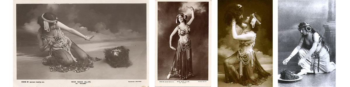 1.Maud Allan, the Salome dancer 2. Oscar Wilde in costume as Salome